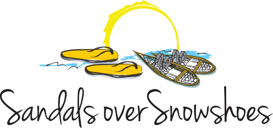 Sandals over Snowshoes Logo